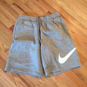 NWOT Nike fleece shorts with signature swoosh